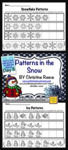 Snow Patterning Fee Worksheets from Autism Classroom Resources