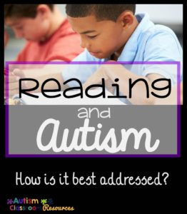 Teaching Reading and Autism from Autism Classroom Resources