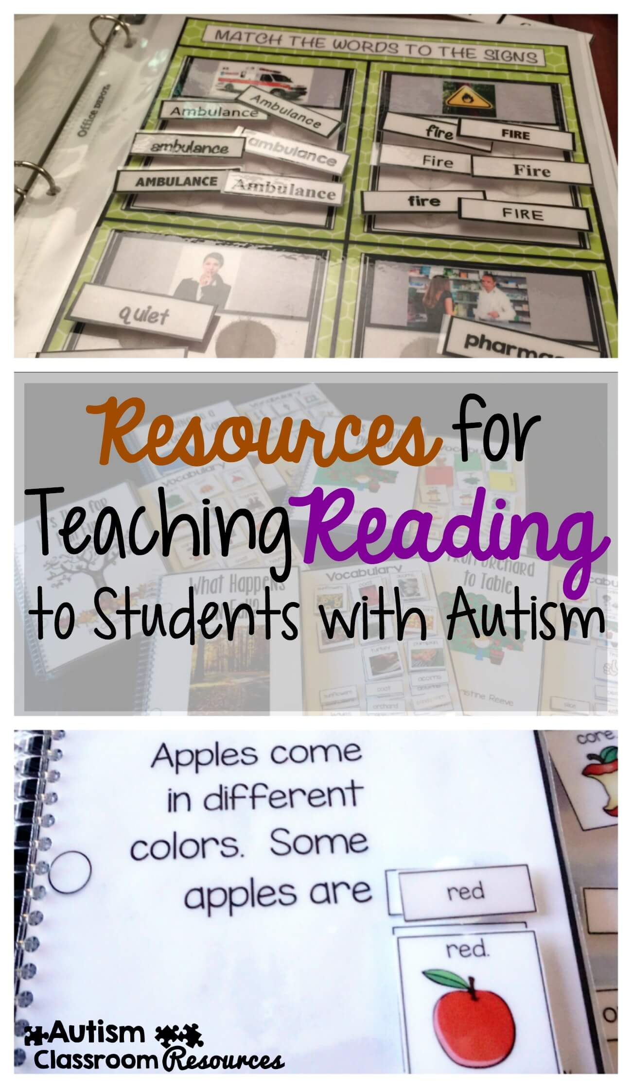 Math Worksheet Resources For Teaching Reading To Students With Autism ...