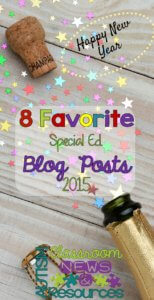 8 Favorite Special Education Blog Posts for 2015 from Autism Classroom News