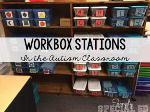 Simply Special Workbox system from Simply Special Ed as one of 8 Favorite Blog Posts for 2015 from Autism Classroom Resources