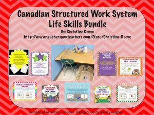 Canadian Structured Work System Life Skills Bundle from Autism Classroom News