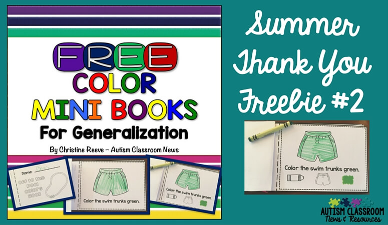 Color Mini-Book Freebie: Summer Thank You #2