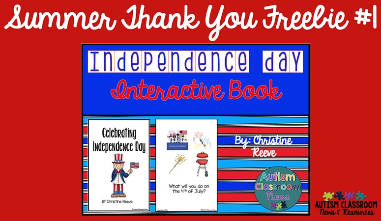 Summer Thank You Free Interactive Book