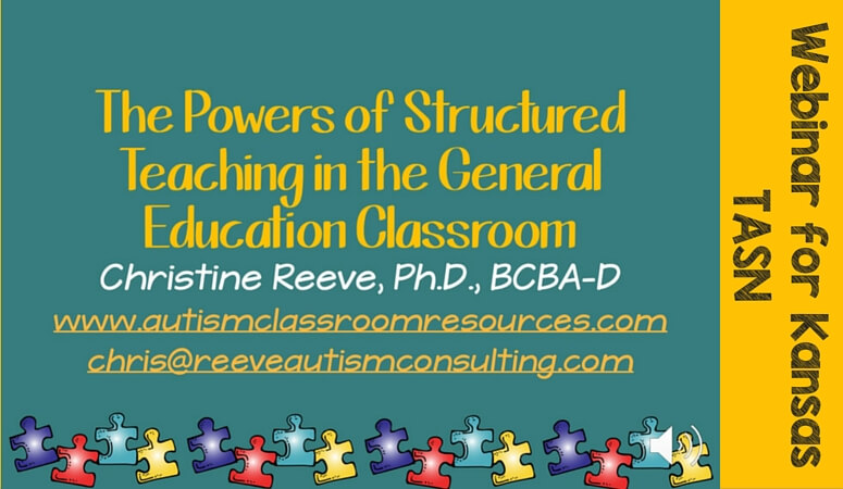 TASN Webinar on Structured Teaching in the General Education Classroom