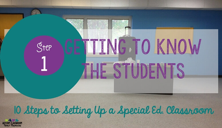 Step 1 in Setting up a SPED Classroom – The Teaching Plan: Getting to Know the Students
