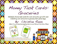 Money Task Cards 1 and 2–Groceries