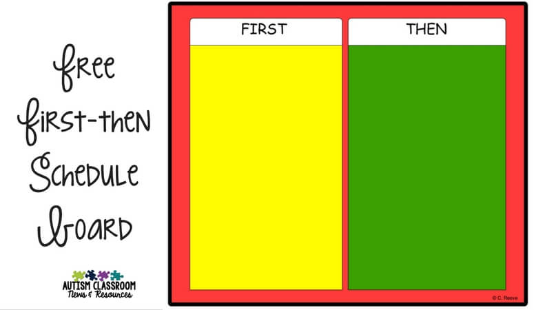 graphic regarding Token Board Printable known as Visible Timetable Sequence: To start with-Then Schedules (Freebie