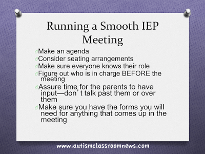 Running A Smooth Iep Meeting Part 1 Autism Classroom Resources