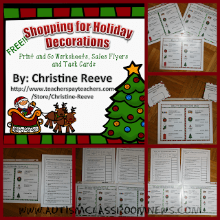 Free, Easy Holiday Literacy and Math Activities for Functional Life Skills