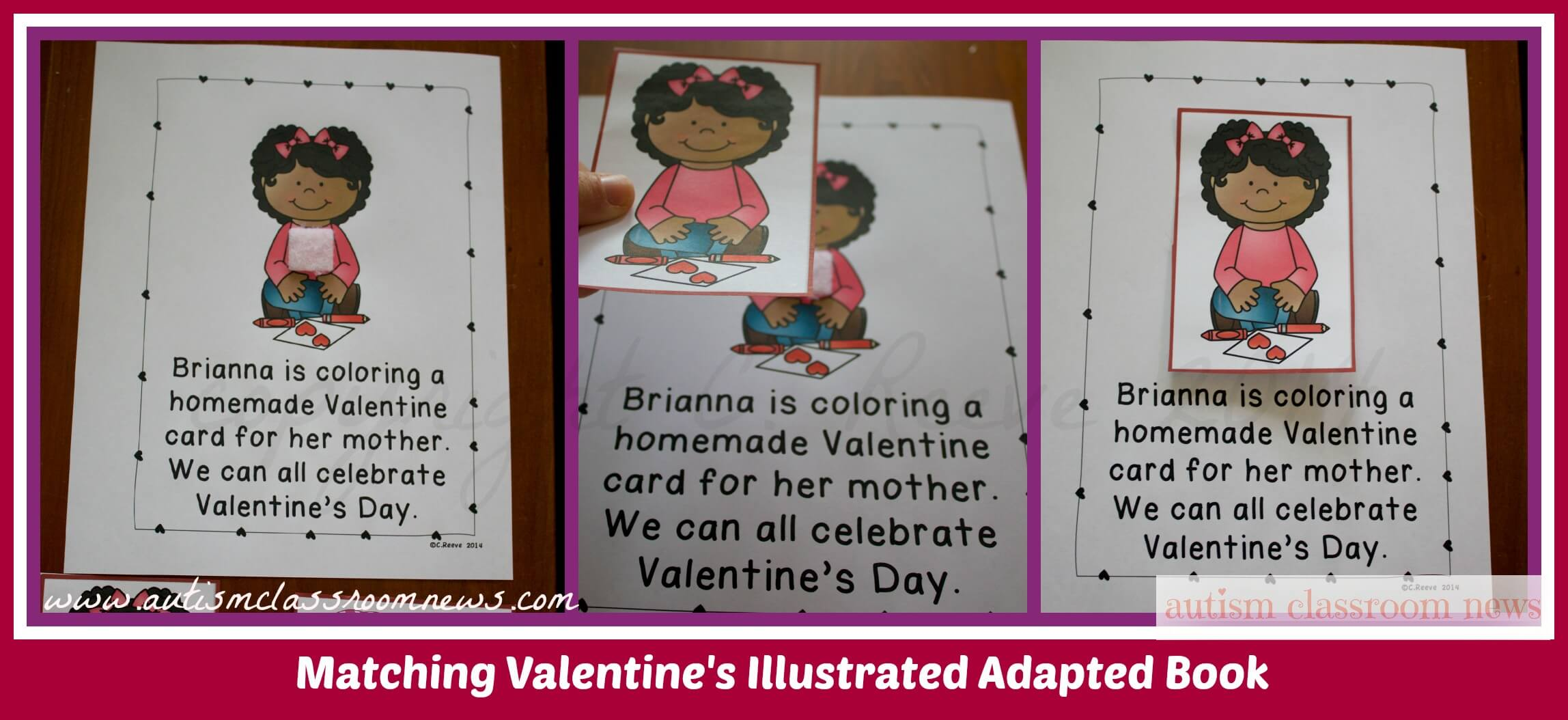 Matching Valentine's Illustrated Adapted Book