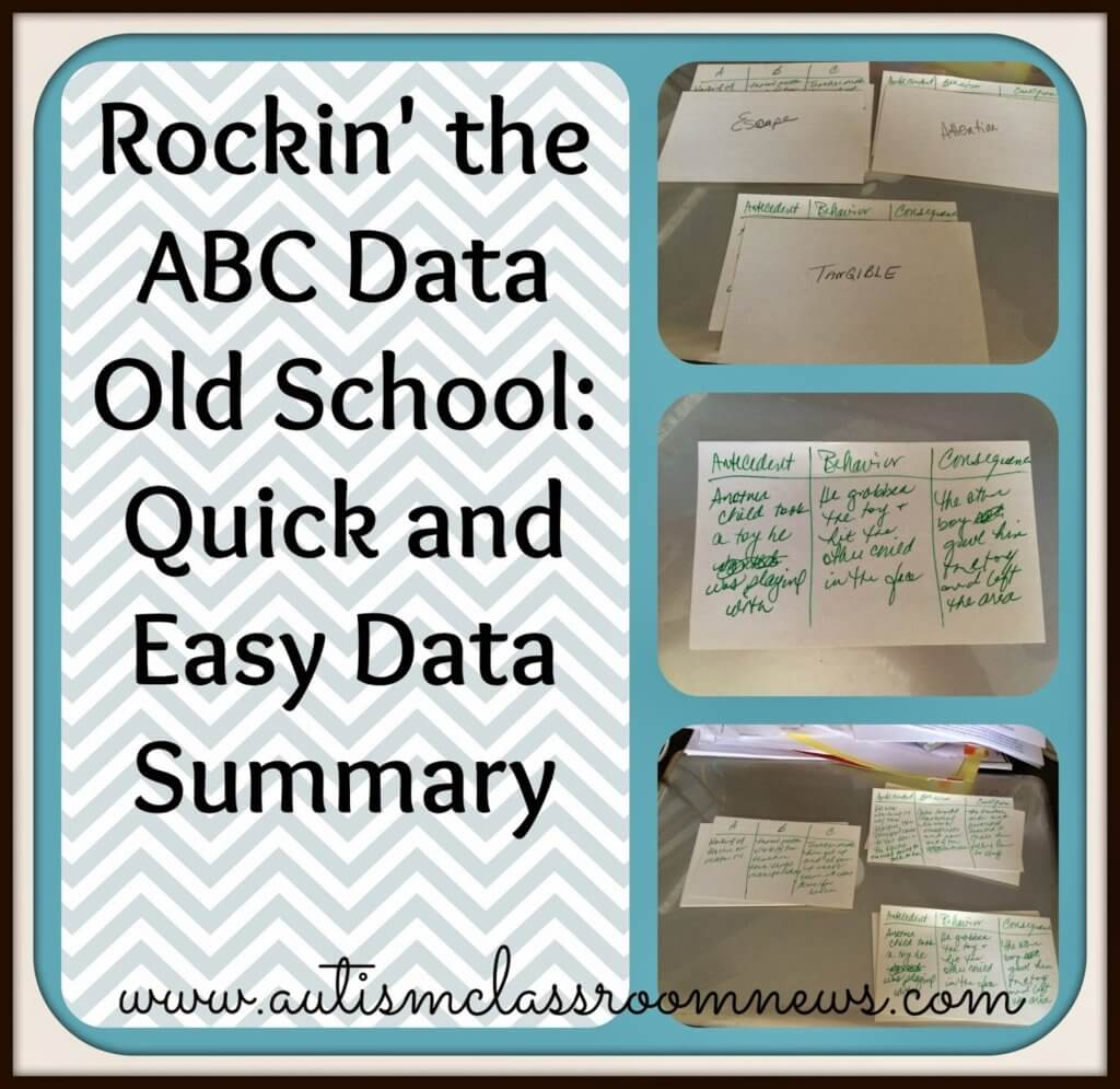 Quick and Easy Data Summary: Rockin' the ABC Data Old School