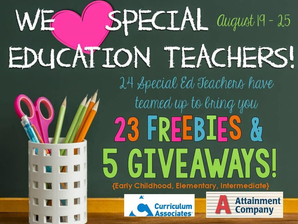 Special Education Teachers To Get Boost >> We Love Special Education Teachers Blog Hop Giveaway Autism