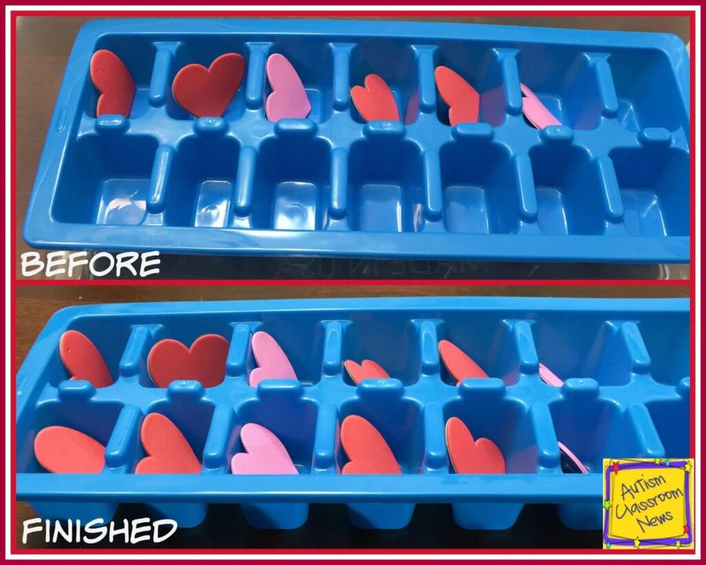 These are some great Valentine's day work tasks made with material you can find at the Dollar Store or Amazon. There are simple and more complex tasks with instructions on how to make them. #workbaskets