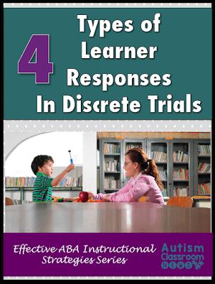 Four Types Of Responses In Discrete Trial Instruction Autism