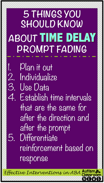 5 Things to Know About Time Delay Prompt Fading