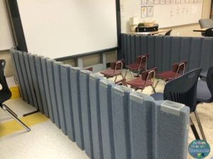 Divider in a special education classroom
