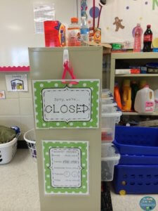 Classroom Closed Sign to Show Off Limits