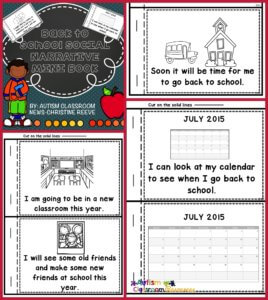 back to school social story for children with autism