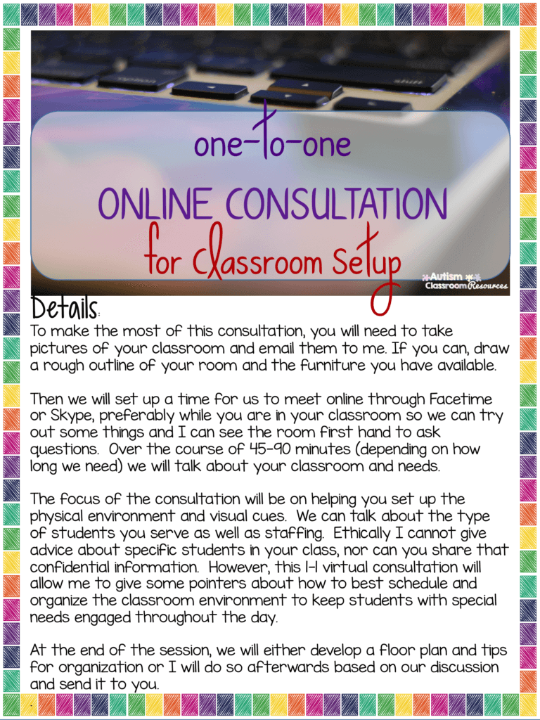 1-1 Online Consultation for Special Education Classrooms
