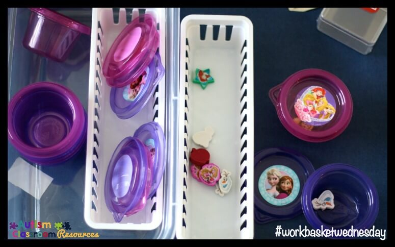 workbasket to work on packaging for young children with ASD