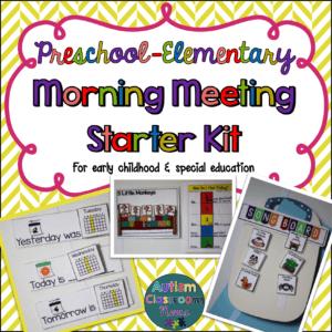 Morning Meeting Starter Kit Elementary and Preschool