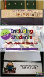 Do's and Don'ts of Including students with special needs in morning meeting from Autism Classroom Resources