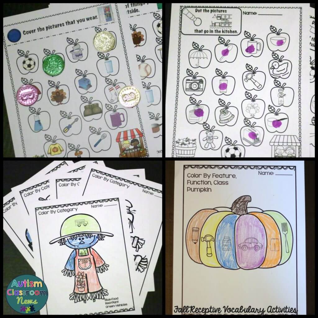 Print and go activities for fall RFFC Activities Autism Classroom News