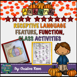Free Print-and-Go Activities for Receptive Vocabulary Activities Autism Classroom News