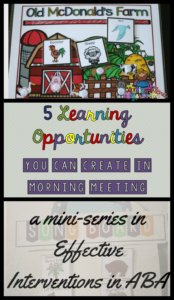 5 Incidental Teaching Opportunities You Can Create in Morning Meeting