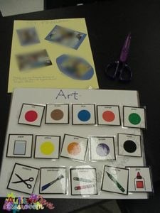 Art choices board Autism Classroom Resources