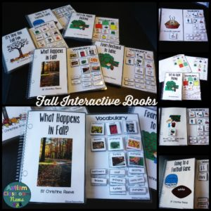 Fall Interactive Books Autism Classroom News Reading Resources for Autism