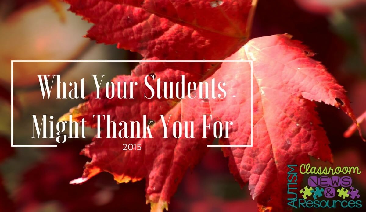 What Your Students Might be Thankful For FB