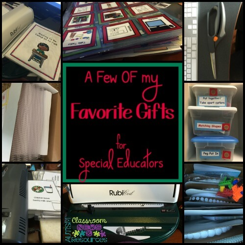 A few of my favorite gifts for special educators by Autism Classroom Resources
