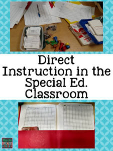 Direct Instruction in the special education classroom from Mrs Ps Specialties in 8 Favorite Special Education Blog Posts by Autism Classroom Resources