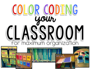 color coding your classroom from 8 Favorite Blog Posts of 2015 from Autism Classroom Resources