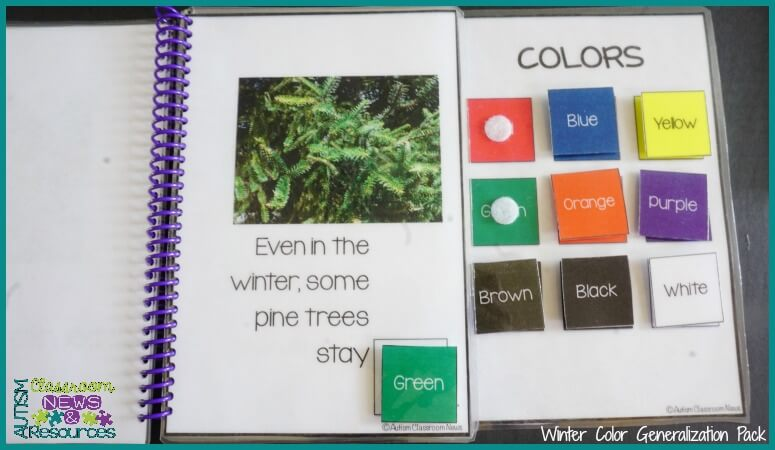 Winter Color Generalization Books in 5 More Ways to Use Interactive Books in the Classroom by Autism Classroom Resources