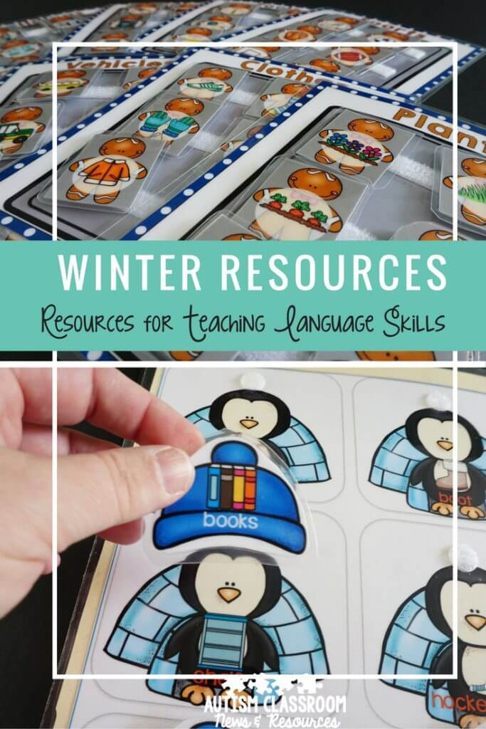 Interactive books are such a great way to teach language skills in special education, autism, and preschool classes. Here are some ideas of ways to teach lots of different functions of language with winter resources.