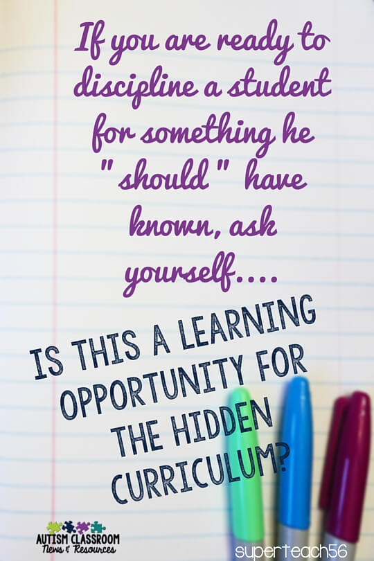 How Do I Start Teaching The Hidden Curriculum Autism Classroom