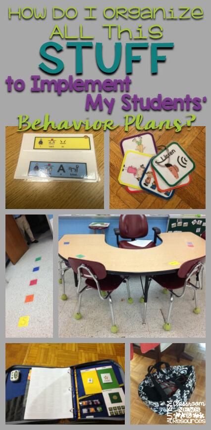 How Do I Organize students behavior plans