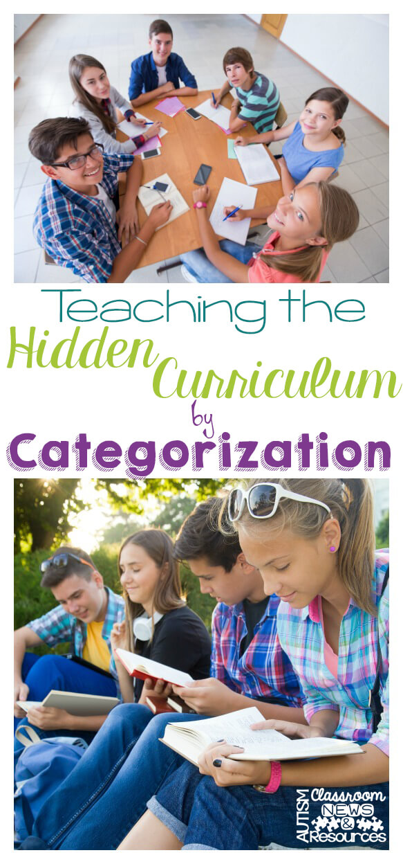 Teaching the Hidden Curriculum by Categorization