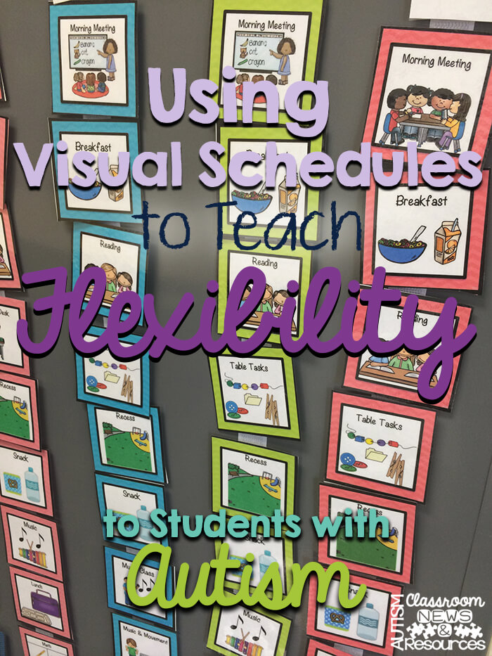 Using Visual Schedules to Teach Flexilibity to Students with Autism