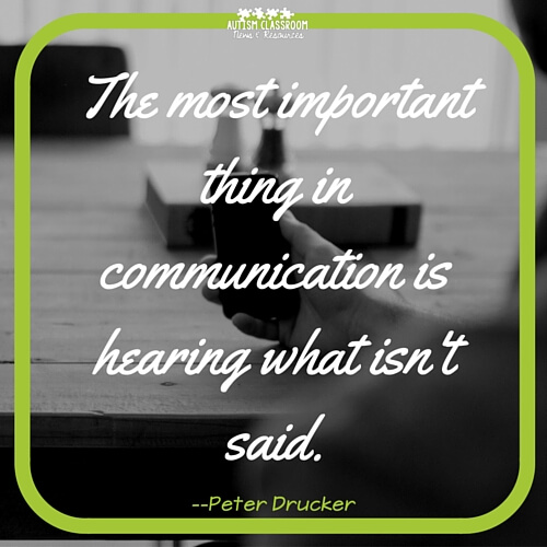 The most important thing in communication is hearing what isn't said