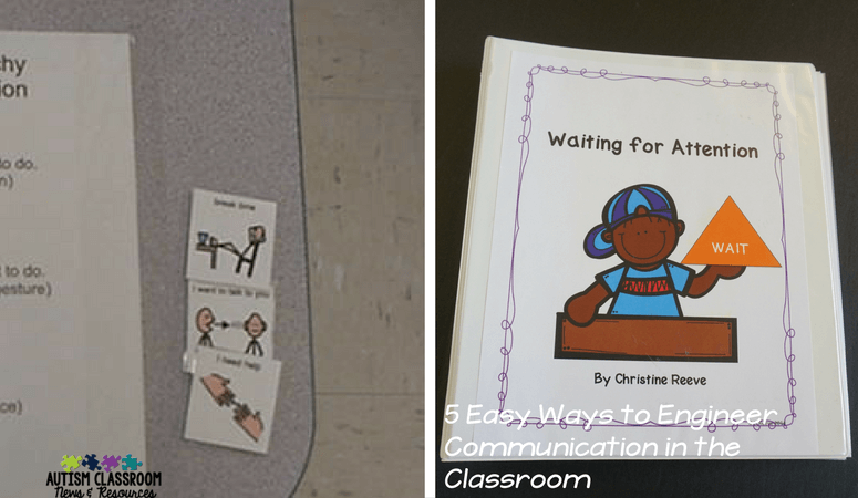 Behavioral visuals are important in special education classroom setup to promote communication and prevent challenging behavior.