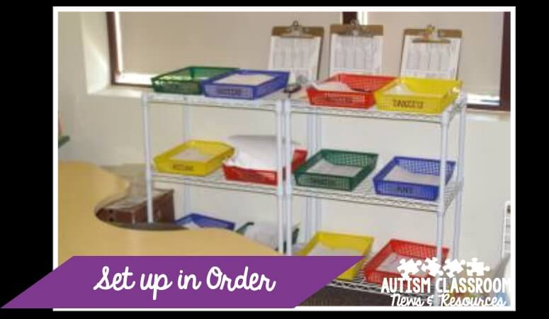 Organizing for instruction in special education is hard. Click for more tips on organizing classroom materials in special ed.