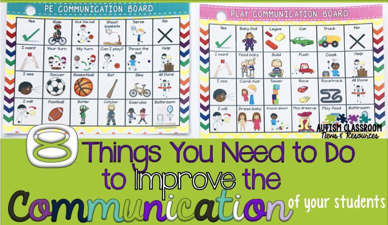 Improving the communication of our students with disabilities, particularly autism, is a true challenge. This post kicks off a series of 8 different things we need to think about to improve the communication of our students.
