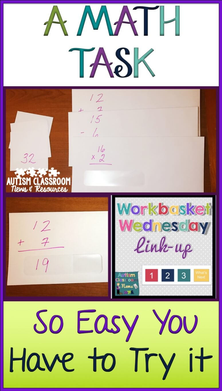 a math work task so easy you have to try it autism classroom resources. Black Bedroom Furniture Sets. Home Design Ideas