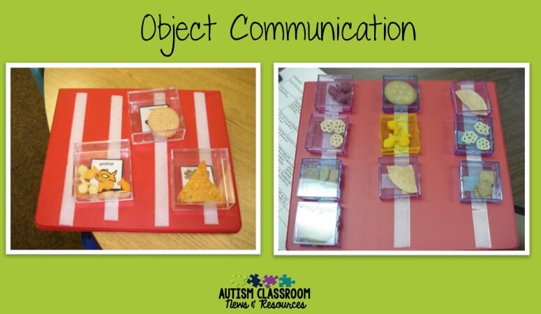 Do you have students who might benefit from using object schedules or using objects to communicate? I'm sharing different types of object schedules including how to help students make the shift to visual schedules.
