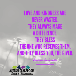 Teaching young children or students with disabilities to understand kindness and be considerate of others is difficult. Kindness is pretty abstract and most of our kids are pretty concrete. Check out these ideas for teaching the concept and connect with 9 bloggers who have created resources to help you bring kindness to your classroom.