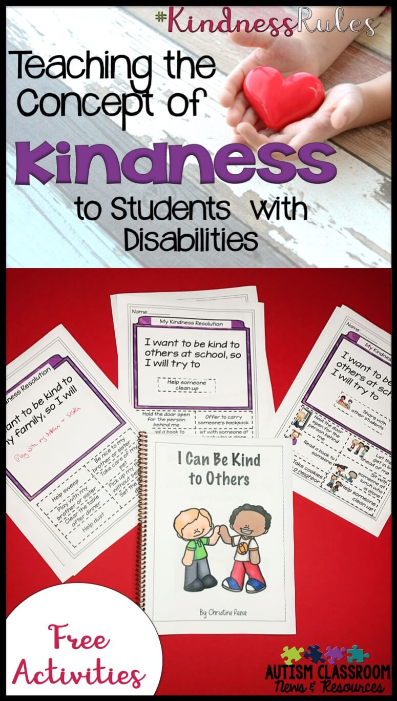 Kindness Curriculum Shown To Improve >> Kindnessrules Teaching The Concept Of Kindness Freebie Autism